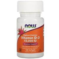 Vitamin D-3 10,000 IU,  120 softgels.