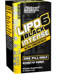 Lipo 6 Black Ultra Concentrated INTENSE, 60 caps.