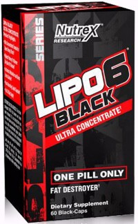Lipo 6 Black Ultra Concentrated,  60 caps.