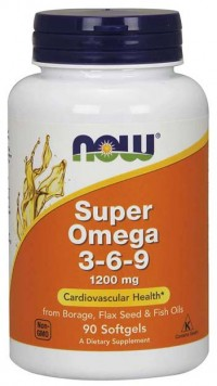 Super Omega-3-6-9  1200 mg, 90 softgels.