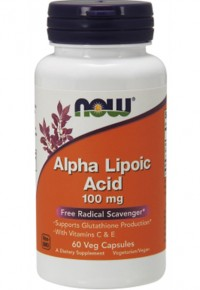 Alpha Lipoic Acid 100 mg, 60 caps.